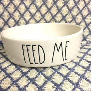 Rae Dunn FEED ME Dog or Cat Bowl